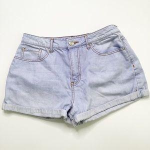 Forever 21 Cuffed Denim Shorts 28